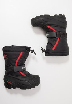 Sorel - YOUTH FLURRY - Snowboots  - black/bright red