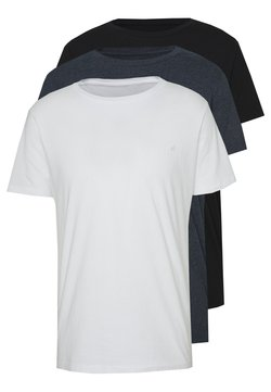 Replay - CREW TEE 3 PACK - Basic T-shirt - black/navy melange/white