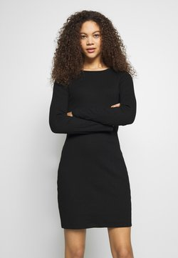Even&Odd Petite - DRESS BODYON SOLID - Jerseyjurk - black