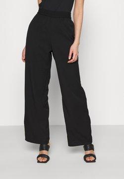 Monki - LEIKA TROUSERS - Pantalones - black dark