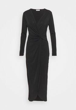 WAL G TALL - TWIST FRONT BODYCON DRESS - Fodralklänning - black