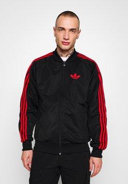 adidas Originals - SUPERSTAR SPORT INSPIRED TRACK TOP - Trainingsjacke - black/red