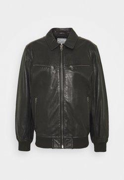 Pepe Jeans - BOB - Leather jacket - black