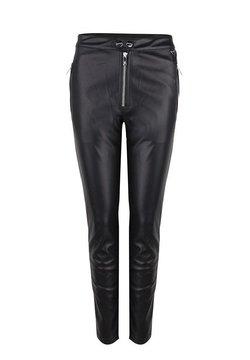 Jacky Luxury - Leren broek - black