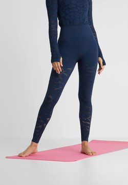 Casall - CASALL SEAMLESS STRUCTURE TIGHTS - Tights - pushing blue