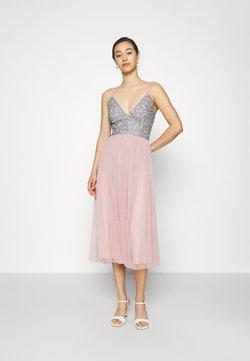 Lace & Beads - AMIRA MIDI - Cocktailkleid/festliches Kleid - blue/pink