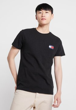 Tommy Jeans - BADGE TEE - T-shirts basic - black