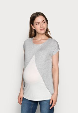 Anna Field MAMA - Camiseta estampada - mid grey mélange