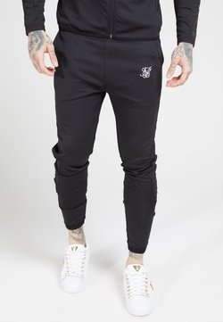 SIKSILK - CREASED PANTS - Jogginghose - black