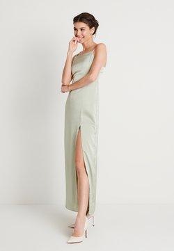 NA-KD - HIGH SLIT DRESS - Maxi dress - dusty green