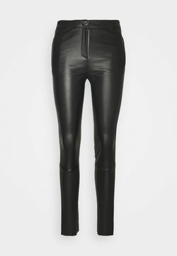 Oakwood - CELESTE - Leather trousers - black