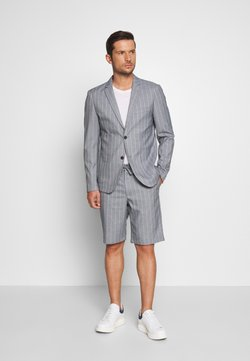 Lindbergh - STRIPED BLAZER + SHORTS SET - Puku - grey