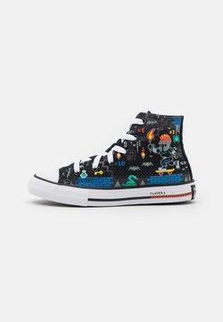 Converse - CHUCK TAYLOR ALL STAR GAMER UNISEX - High-top trainers - black/bright poppy/digital blue