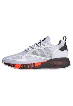 adidas Originals - ZX 2K BOOST UNISEX - Sneaker low - footwear white/silver metallic/core black