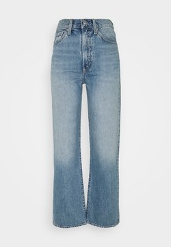 Levi's® - WELLTHREAD RIBCAGE ANKLE - Jeans straight leg - moon stone indigo