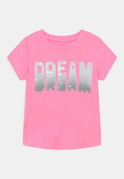GAP - GIRL TEE - Camiseta estampada - neon impulsive pink