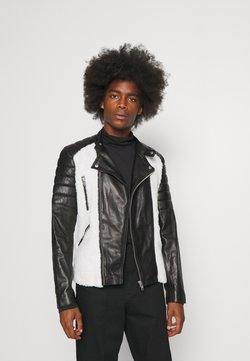 Serge Pariente - GLADIATOR NOUNOURS - Leren jas - black/white