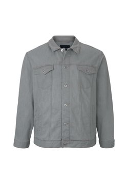 TOM TAILOR MEN PLUS - TRUCKER DENIM JACKET - Veste en jean - light stone grey denim