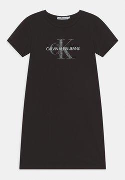 Calvin Klein Jeans - REPTILE MONOGRAM DRESS - Jerseykleid - black