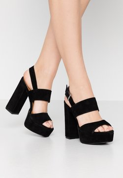 Even&Odd - LEATHER - Sandaletter - black