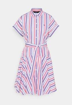Lauren Ralph Lauren - SHENDAL CASUAL DRESS - Abito a camicia - red/blue/white multi