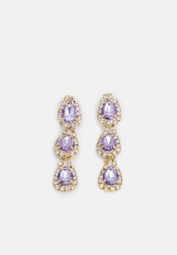 Pieces - FPPAOLINAZAL GEMSTONE DROP EARRINGS - Earrings - gold-coloured