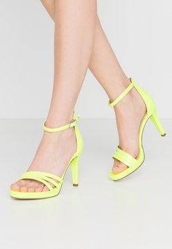 Tamaris - Sandales à talons hauts - yellow neon
