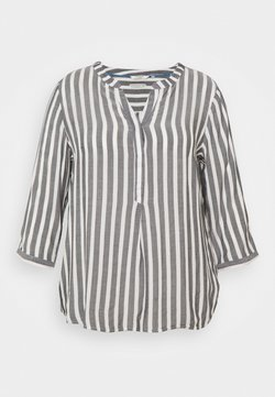 MY TRUE ME TOM TAILOR - BLOUSE STRIPED - Langarmshirt - offwhite/navy