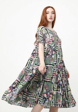 Madam-T - ABELYA - Freizeitkleid - hellgrün, schwarz
