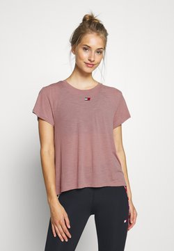 Tommy Sport - PERFORMANCE - T-Shirt print - red dust