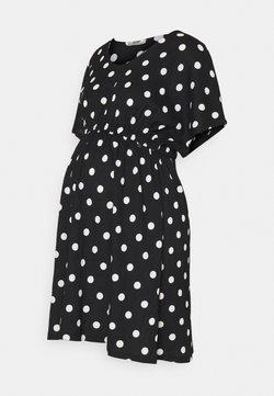 LOVE2WAIT - DRESS NURSING DOTS - Freizeitkleid - black