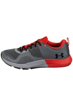 Under Armour - ENGAGE - Sportschoenen - pitch grey / versa red