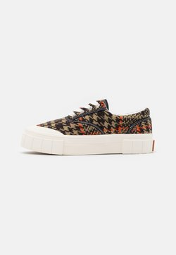 Good News - CHECK UNISEX - Sneaker low - brown/orange