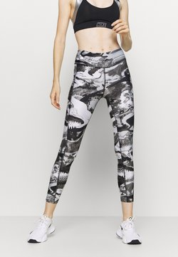 Under Armour - PRINT ANKLE CROP - Trikoot - black
