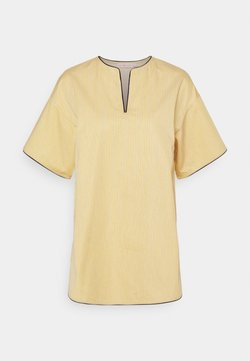 Tory Burch - BUDDY STRIPE TUNIC - Bluse - yellow