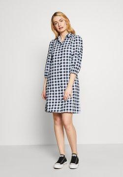 PIECES Tall - PCMALUKI SHIRT DRESS  - Vestido camisero - navy blazer