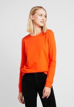 Noisy May - NMPANA SOLID - Sweater - tangerine tango