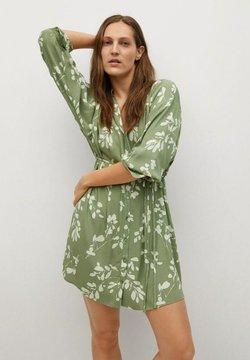 Mango - ESTAMPADO CINTURÓN - Vestido camisero - verde pastel