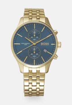 BOSS - ASSOCIATE - Chronograaf - gold-coloured/blue