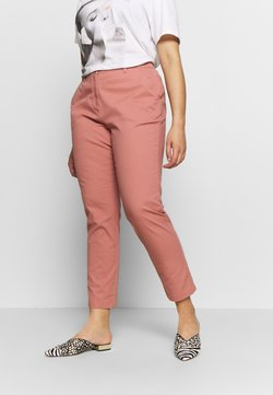 CAPSULE by Simply Be - COMFORT STRETCH TURN UP - Chinot - washed coral