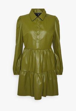 Who What Wear - COLLARED MINI DRESS - Robe d'été - moss