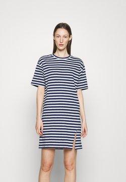 rag & bone - THE SLUB DRESS LABEL - Jerseykleid - white/blue