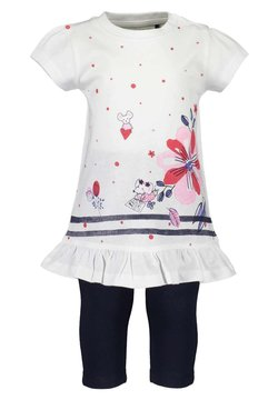 Blue Seven - LIFE IS FLOWERFUL - T-shirt print - white