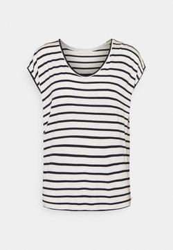 TOM TAILOR DENIM - STRIPED RELAXED TEE - T-Shirt print - navy/white