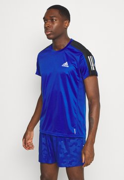 adidas Performance - RESPONSE RUNNING SHORT SLEEVE TEE - T-shirt z nadrukiem - royblu/refsil