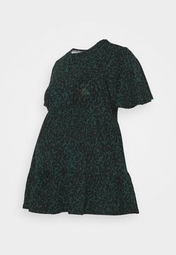 New Look Maternity - PRINTED TIER PEPLUM - Vestido ligero - green pattern