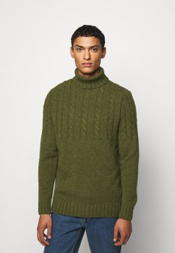 Barbour - DUFFLE CABLE CREW - Strickpullover - willow green
