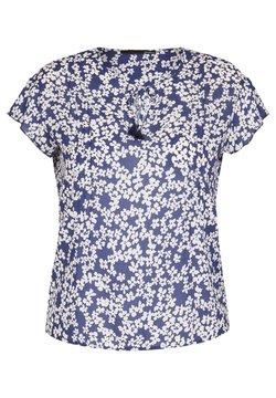 LeComte - MIT BLUMEN-MUSTER UND BINDEBAND - Bluse - blau