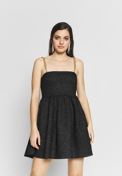 NEW girl ORDER - GLITTER CHAIN STRAP DRESS - Cocktail dress / Party dress - black