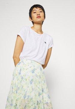 Abercrombie & Fitch - ICON CREW TEE - T-Shirt basic - white